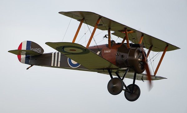 Shuttleworth, Old Warden-> Race Day 2018-> Display-> WW1 Racers, Aircraft-> Sopwith-> Camel F.1-> D1851 - 07/10/2018@16:19