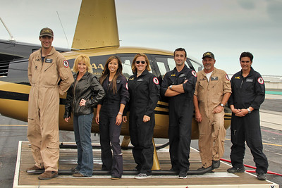 Star Helicopters crew L to R.  Anthony Ghidossi, Jeannette Reed, Mayumi Shimokawa, Christine Keefer, Alex Chaunt, Keith Harter and Ryan Samala
