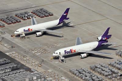 FedEx A300F4-605R, N667FE and MD-10-10F, N556FE