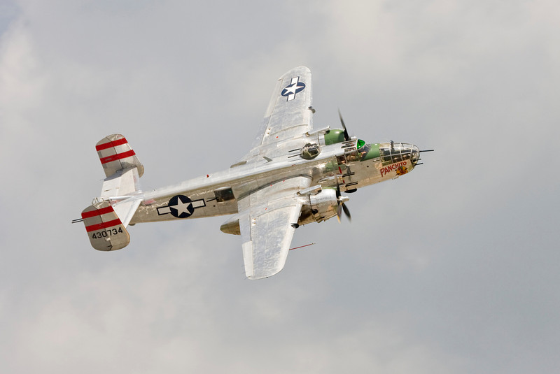 """B-25 Mitchell """"Panchito"""" - This is the type of bomber they flew off the carrier Hornet to conduct the Dolittle Raid on Tokyo"""