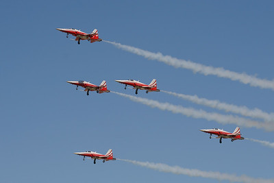 """The Patrouille Suisse - Swiss Air Force Aerobatic Team """"Nothrop F-5E Tiger II"""""""