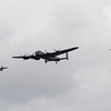 Avro Lancaster Supermarine Spitfire PRXIX and Hawker Hurricane IIC of the Battle of Britain Memorial Flight
