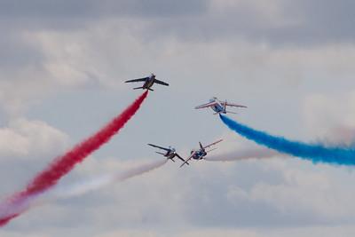 "The Patrouille de France ""Alpha Jet Es"" (French Air Force Aerobatic Team)"