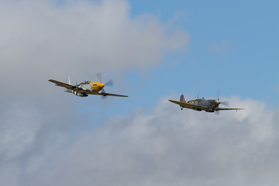 North American P-51D Mustang and Supermaring Spitfire LF IX