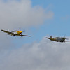 1945 - North American P-51D Mustang `Ferocious Frankie' and Supermarine Spitfire LF IX