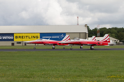 """The Patrouille Suisse Aerobatic Team (Swiss Air Force) """"Nothrop F-5E Tiger II"""""""