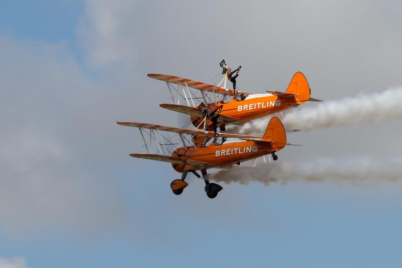 The Breitling Wingwalkers (Boeing Stearman A75S)
