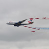 British Airways Airbus A380 - 841 & The Red Arrows Bea Hawk T1/T1A