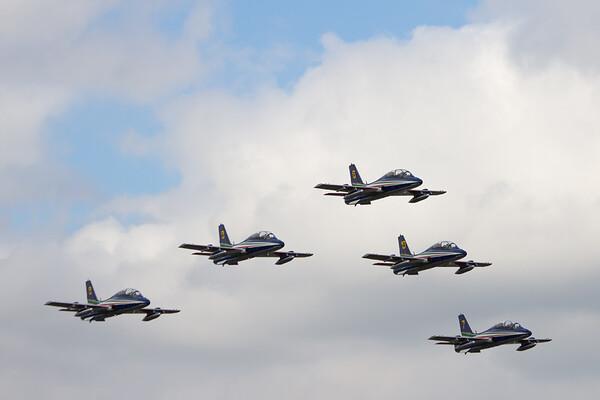 "Frecce Tricolori ""Aermacchi MB339As"" ( talian Air Force Aerobatic Team)"