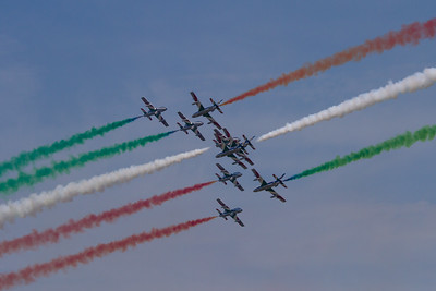 The Frecce Tricolori Aerobatic team