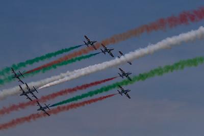 The Frecce Tricolori - Aermacchi AT-339A (Italian Air Force Aerobatic Team)