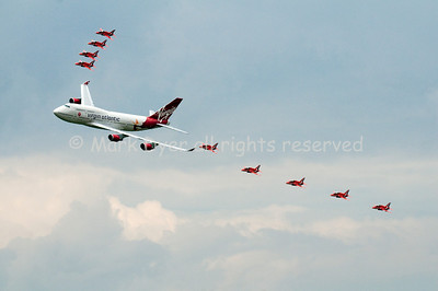 Virgin Atlantic and Red Arrows Biggin Hill 2009