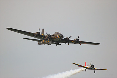 Boeing B-17G Flying Fortress and Vultee SNV-1 Valiant