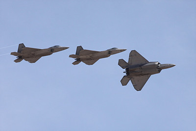 US Air Force F-22A Raptors