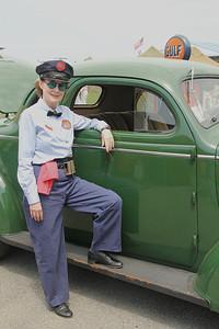 Gulf Oil service station attendant