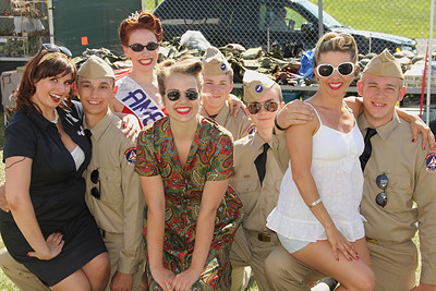 CAP Cadets and 1940's girls