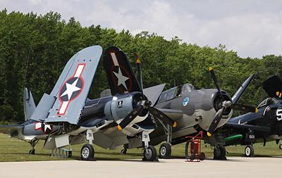 Goodyear FG-1 Corsair and Grumman TBM-3E Avenger