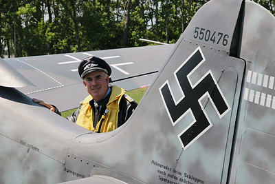 Luftwaffe pilot re-enactor