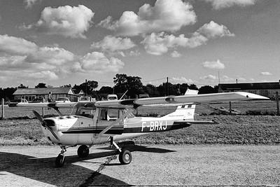 Cessna 50 Aérobat F-BRXJ de l'aéroclub Jean Maridor. Le Havre, février 1979.