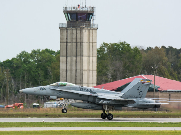 Capt Heinz with VMFA-312 takes off for the Marine Air Ground Task Force (MAGTF) demonstration during the 2015 MCAS Beaufort Airshow.