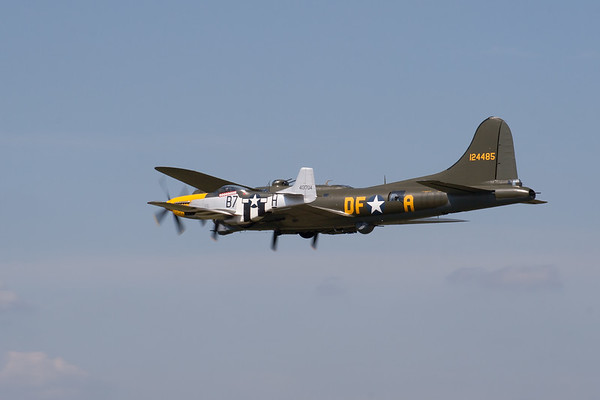 "1945 - Boeing B-17 Flying Fortress ""Sally B"" and North American P-51D Mustang ""Ferocious Frankie"""