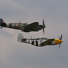 """Supermarine Spitfire Mk IX and North American P-51D Mustang """"Ferocious Frankie"""""""