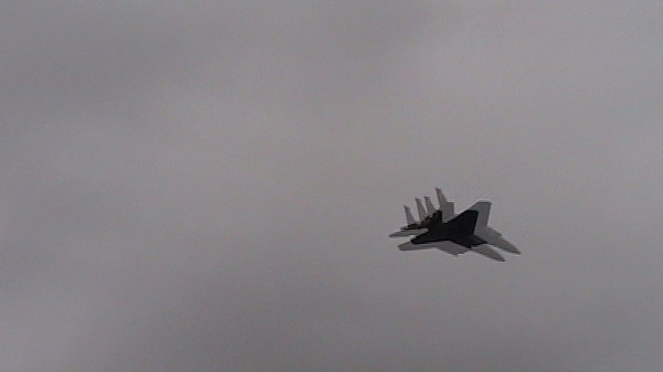 F15 demonstration. Not the greatest video, but these planes are fast and loud.