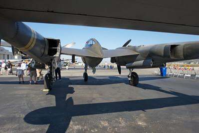 "Camarillo Air Show 2010. Lockheed P-38 ""Lightning""."