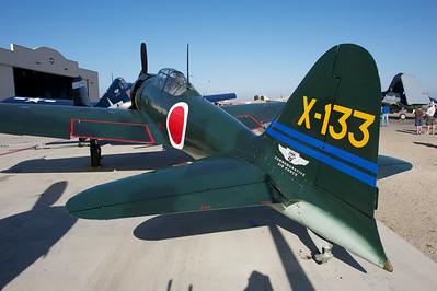 "Camarillo Air Show 2010. CAF Mitsubishi A6M3 Zeke ""Zero""."