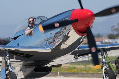 "Camarillo Air Show 2010. North American P-51D ""Mustang""."