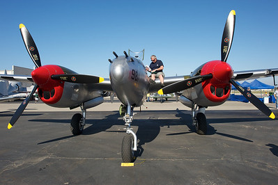Camarillo Air Show 2010. Chino Planes of Fames Lockheed P-38 Lightning.