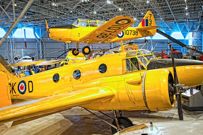 Canada Aviation Museum - Fairchild Cornell III (top) and an Avro Anson V (front, center).