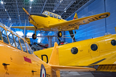 Canada Aviation Museum - Fairchild Cornell III (top), North American Harvard II (front, left) and an Avro Anson V (right).