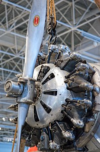 Canada Aviation Museum - The Pratt & Whitney engine of a Junkers W 34f/fi.