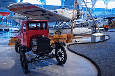 Canada Aviation Museum -  Ford 3-Ton truck and a Junkers W 34f/fi.