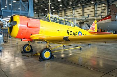 Canada Aviation Museum - North American Harvard II in the storage hangar.