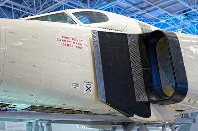 Canada Aviation Museum - Avro CF-105 Arrow II cockpit, saved after beeing severed.