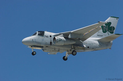 Vacances d'été aux USA à l'occasion d'une conférence à San Diego : Californie, Arizona. Lockheed s3 Viking à l'atterrissage à North Island