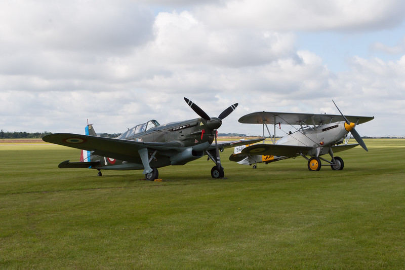 Morane-Saulnier MS.406 and Hawker Nimrod II