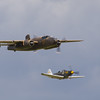 "1944 - North American B 25N Mitchell ""Sarinah"" and  Bell P-39Q Airacobra"