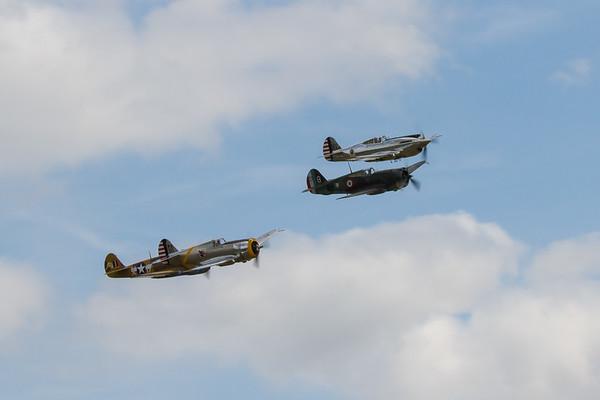 1941 - Curtiss P.40C - 1939 - Curtiss Hawk 75 - 1939 - Curtiss P-36C - 1941 - Curtiss Warhawk P40F