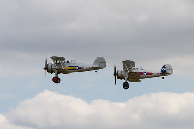 1935 - Gloster Gladiator and 1939 - Gloster Gladiator