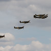 1934 - Bristol Blenheim Mk.I and 3 Supermarine Spitfire's and a 1942 - Hawker Hurricane XII