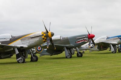 North American P-51D Mustangs