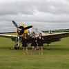 The Manhattan Dolls and a Curtiss-Wright P-36C