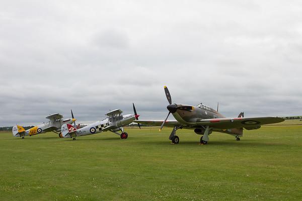 1942 Hawker Hurricane XII - 1932 Hawker Nimrod MkI - 1935 Hawker Fury Mk.I