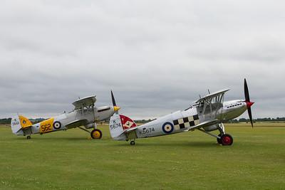 1932 Hawker Nimrod MkI - 1935 Hawker Fury Mk.I