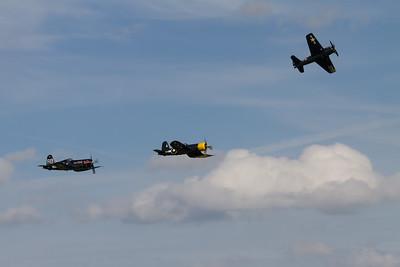 Balbo Finale - Grumman Bearcat  and 2  Chance Vought Corsair's
