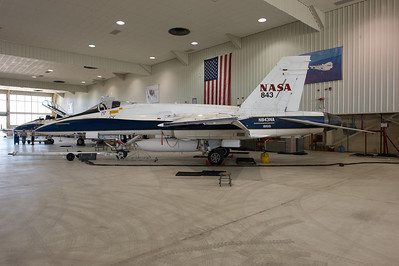 NASA Dryden Research Center (Edwards Air Force Base, CA). NASA 843 in the main hangar.