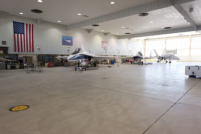 NASA Dryden Research Center main hangar (Edwards Air Force Base, CA).
